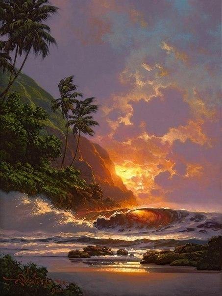 Морские пейзажи гавайского художника Roy Tabora. 5