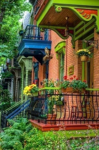 Дома на улице острова Цветной Бурано, Венеция, Италия. 2