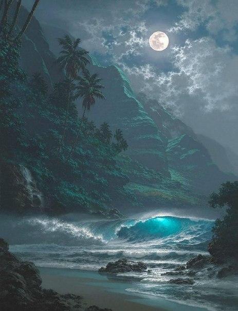 Морские пейзажи гавайского художника Roy Tabora. 1