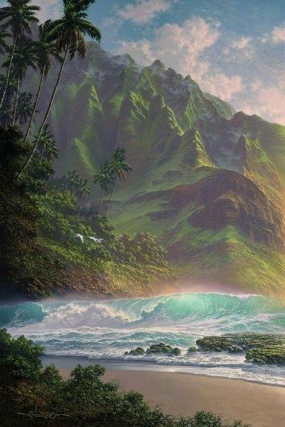 Морские пейзажи гавайского художника Roy Tabora. 0