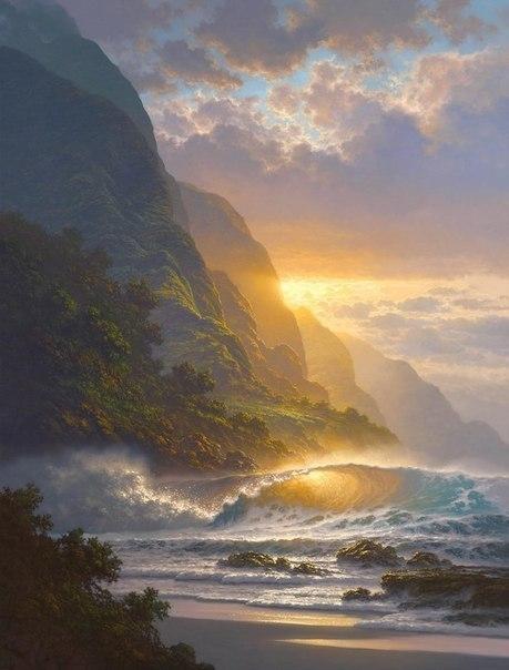 Морские пейзажи гавайского художника Roy Tabora. 4