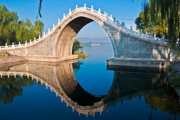 Изящный изгиб лунного моста в Пекине