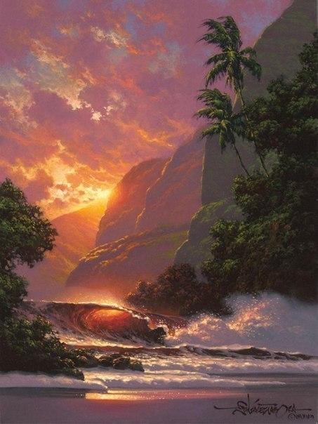 Морские пейзажи гавайского художника Roy Tabora. 2