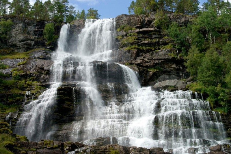 Красивейшие водопады Норвегии