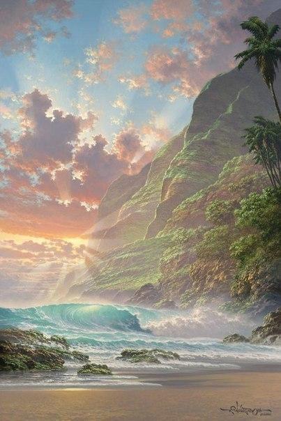 Морские пейзажи гавайского художника Roy Tabora. 3